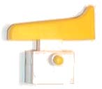 Interruptor Amoladora angular 180mm marca Stingray ,12 Amp. 250 V, Largo:25,6mm, Alto:24,7mm, Ancho:26mm