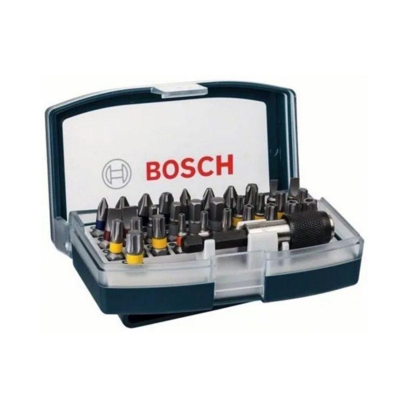 Set Kit Juego De 32 Puntas Azul Bosch Atornillador Y Taladro