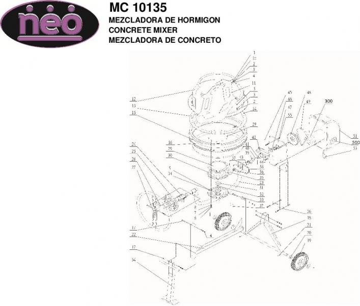 Mezcladora de Hormigon